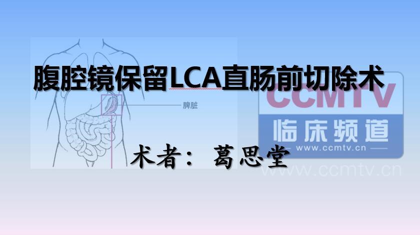 葛思堂:腹腔镜保留LCA直肠前切除术