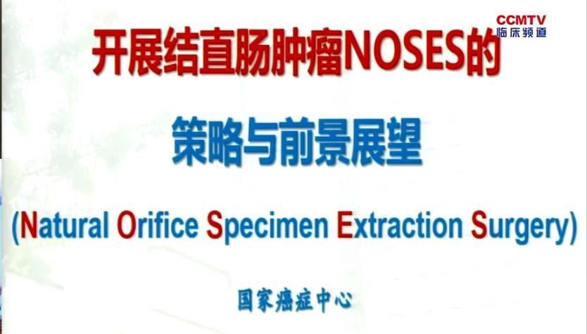 结直肠癌 外科讲坛  刘正:开展结直肠肿瘤NOSES的策略与前景展望
