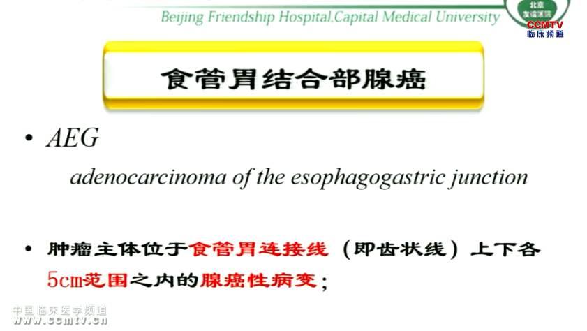癌症 外科讲坛 张军:Ⅱ/Ⅲ型食管胃结合部腺癌手术治疗选择