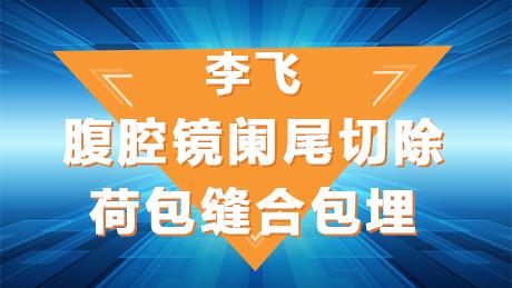 李飞:腹腔镜阑尾切除荷包缝合包埋