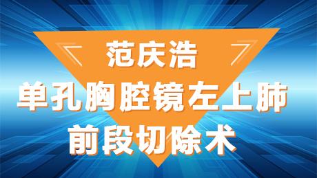 范庆浩:单孔胸腔镜左上肺前段切除术