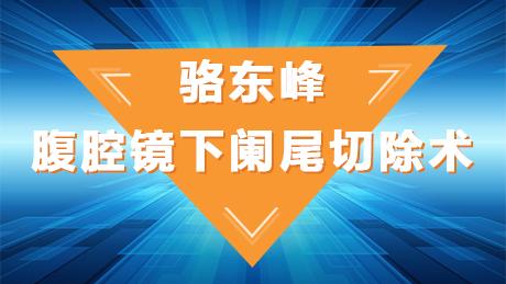 骆东峰:腹腔镜下阑尾切除术