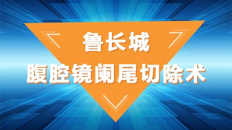 鲁长城:腹腔镜阑尾切除术