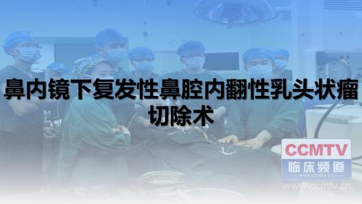 耳鼻喉疾病 手术 微创 鼻内镜 鼻内镜下复发性鼻腔内翻性乳头状瘤切除术