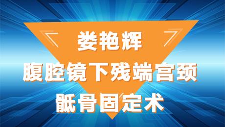 娄艳辉:腹腔镜下残端宫颈骶骨固定术
