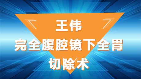 王伟:完全腹腔镜下全胃已切除术