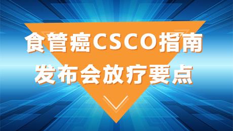 肿瘤 CSCO 食管癌 指南 指南共识 食管癌CSCO指南发布会放疗要点