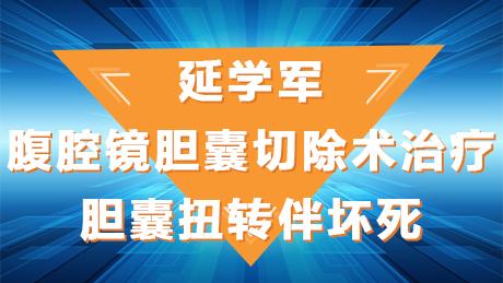 延学军:腹腔镜胆囊切除术治疗胆囊扭转伴坏死