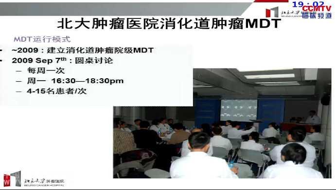 结直肠癌 学科建设 MDT 李健:北京肿瘤医院消化道MDT团队的建设分享