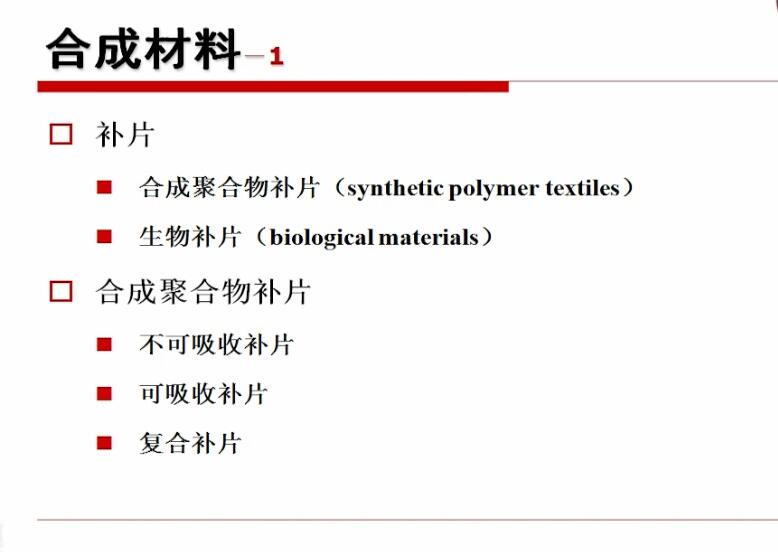 疝气 器材 补片 张佩华:高分子合成疝修补片的结构与性能