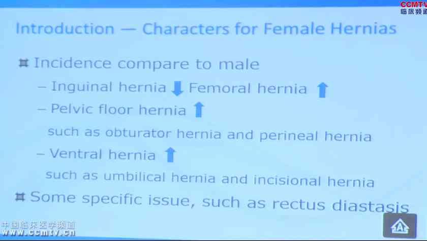 疝气 手术治疗 汤睿:女性疝与腹壁若干问题探讨