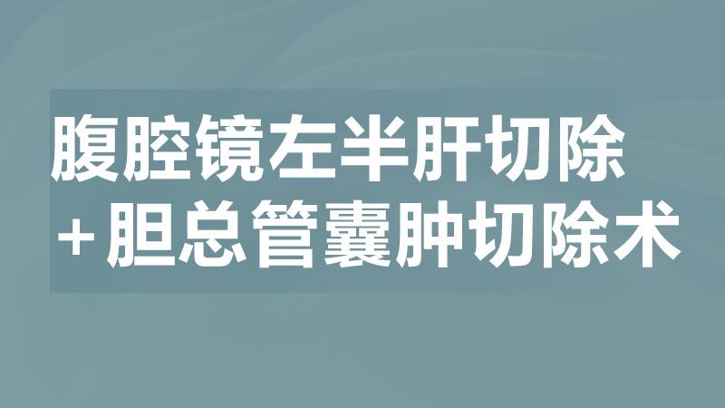 王从俊:腹腔镜左半肝切除+胆总管囊肿切除术