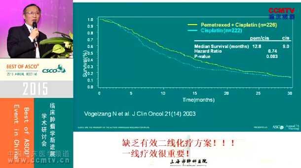 肺癌 诊疗策略 辅助治疗 综合治疗 ASCO 周彩存:评述7500、7506、7507研究