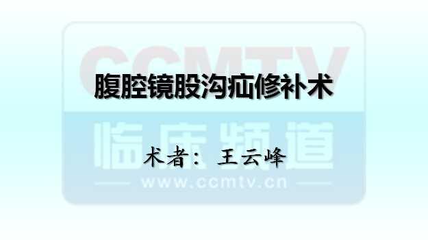 王云峰:腹腔镜股沟疝修补术
